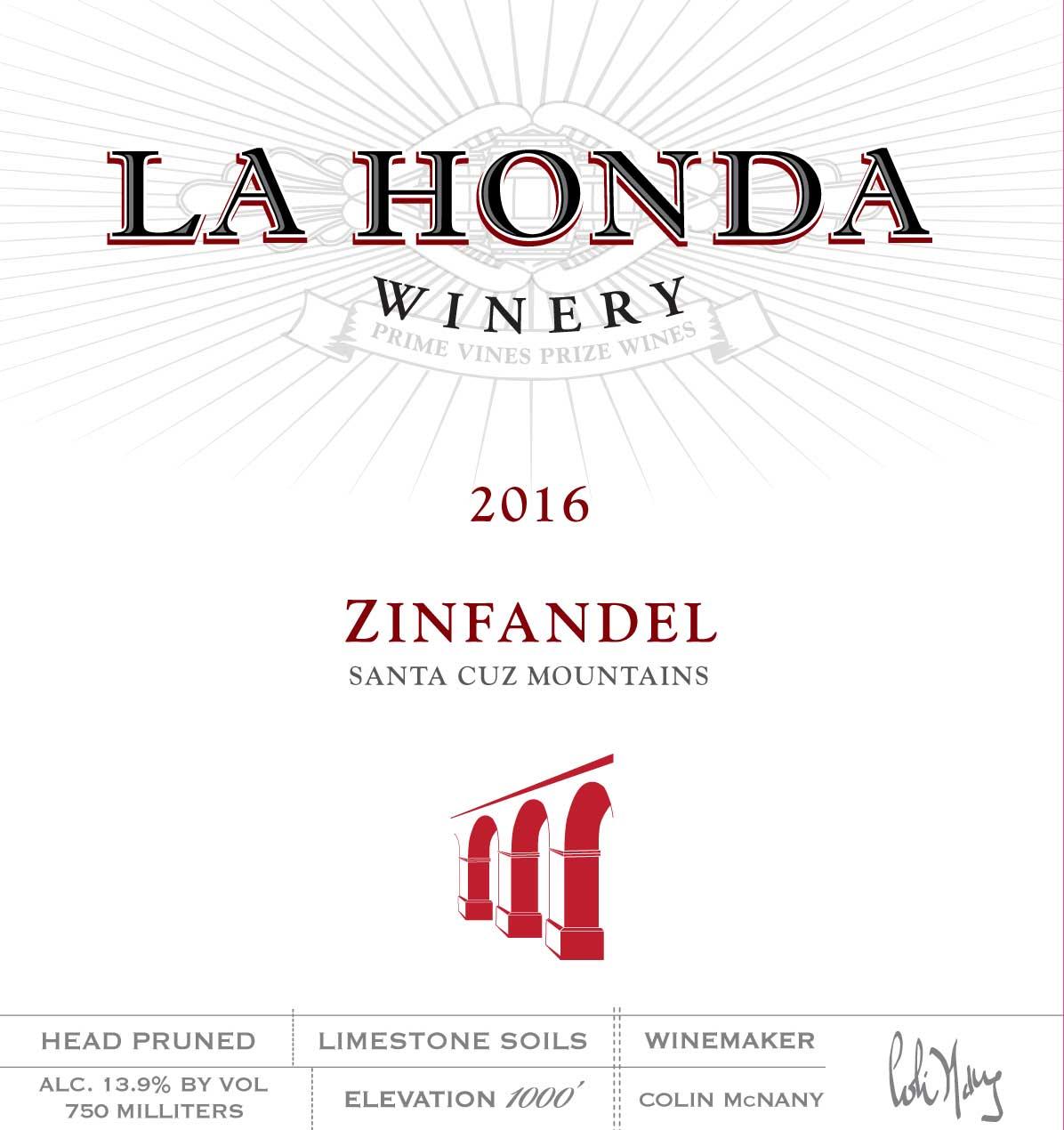 LHW 2016 ZINFANDEL front